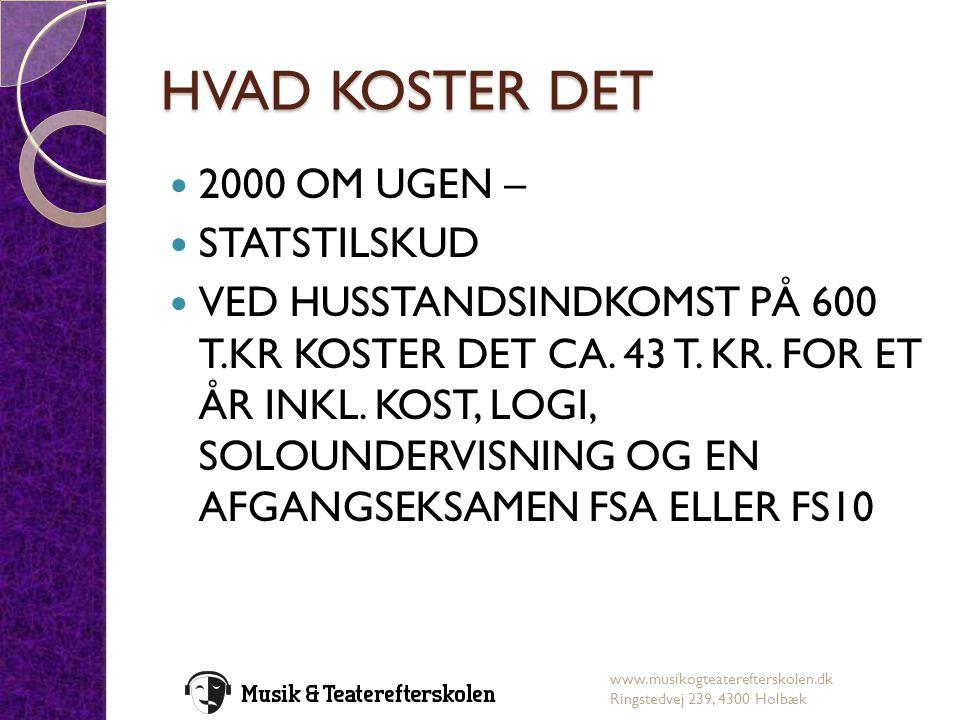 HVAD KOSTER DET 2000 OM UGEN – STATSTILSKUD
