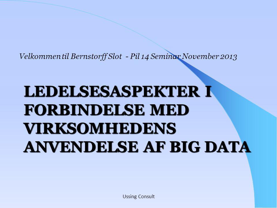 Velkommen til Bernstorff Slot - Pil 14 Seminar November 2013