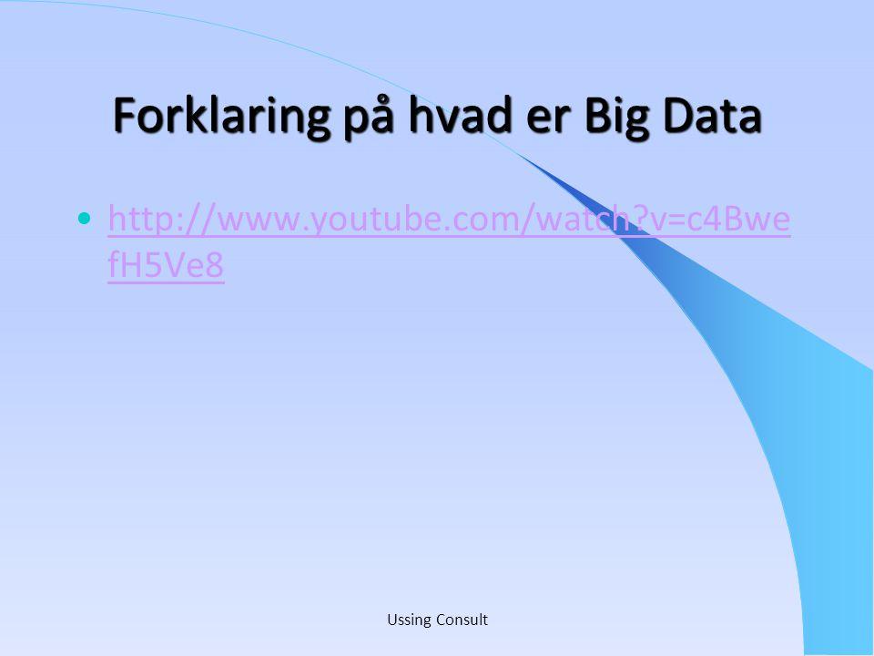 Forklaring på hvad er Big Data