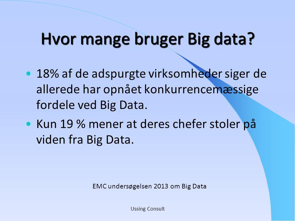 Hvor mange bruger Big data