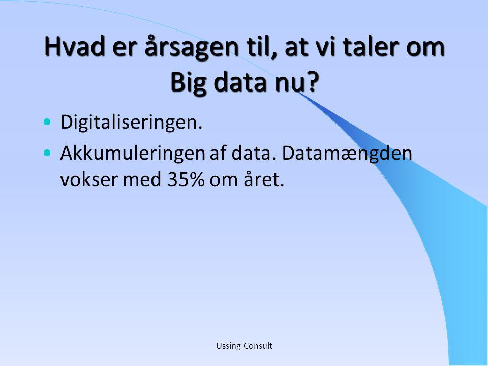 Hvad er årsagen til, at vi taler om Big data nu