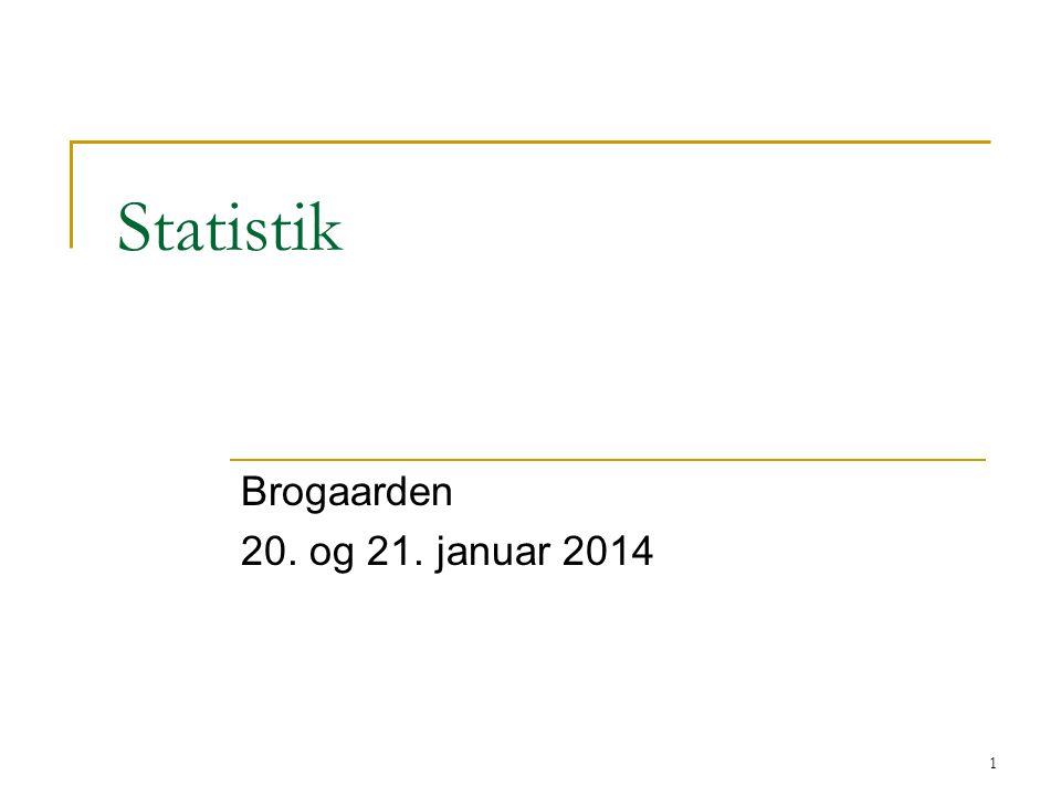 Statistik Brogaarden 20. og 21. januar 2014