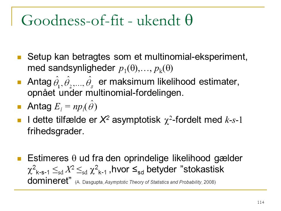 Goodness-of-fit - ukendt q
