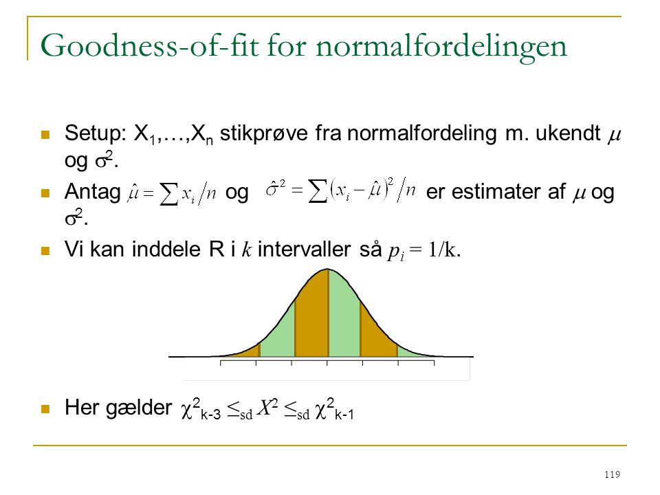 Goodness-of-fit for normalfordelingen