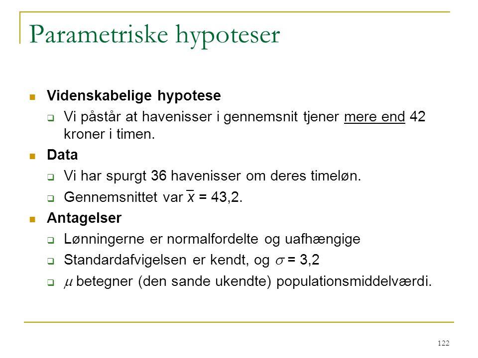 Parametriske hypoteser