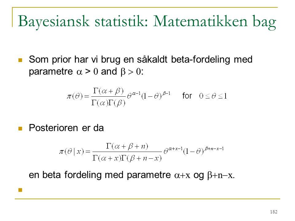 Bayesiansk statistik: Matematikken bag