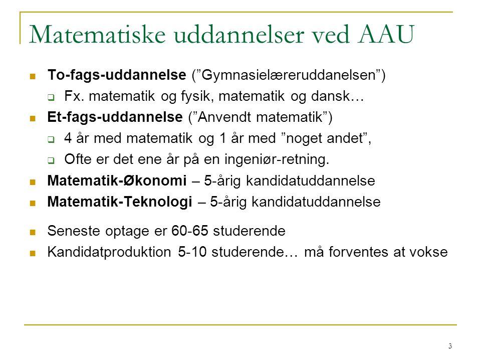 Matematiske uddannelser ved AAU