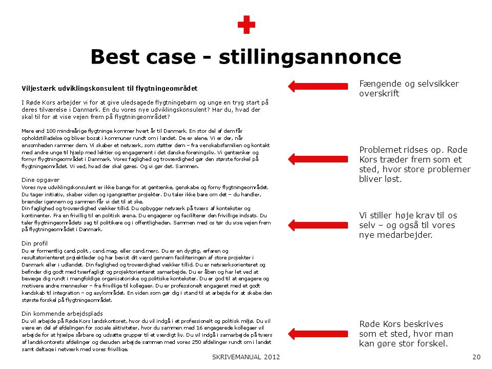 Best case - stillingsannonce