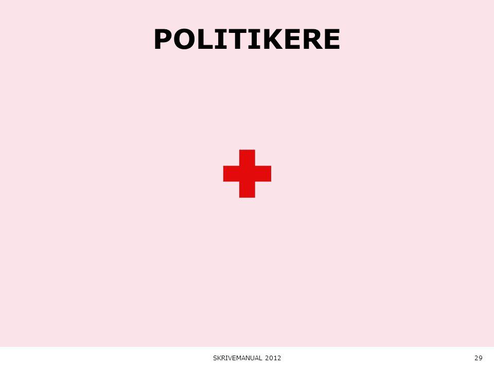 politikere SKRIVEMANUAL 2012