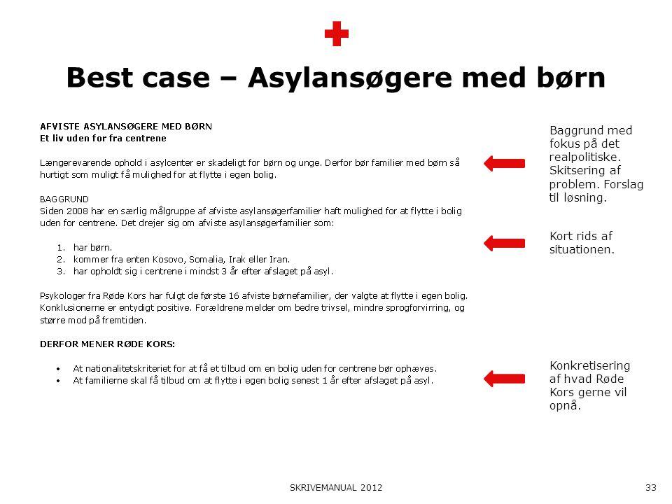 Best case – Asylansøgere med børn