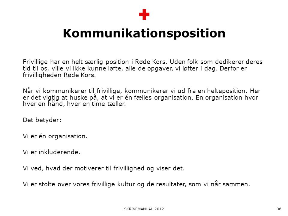 Kommunikationsposition