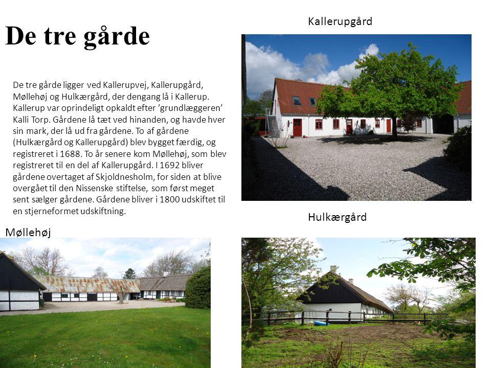 De tre gårde Kallerupgård Hulkærgård Møllehøj
