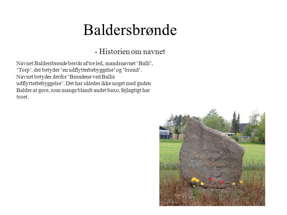 Baldersbrønde - Historien om navnet