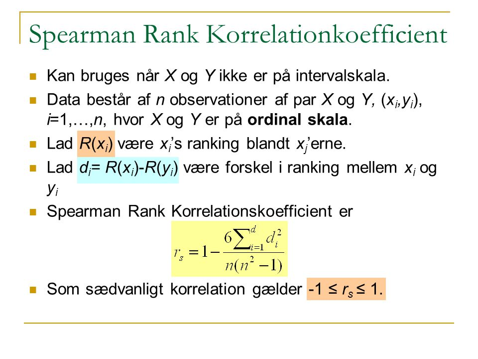 Spearman Rank Korrelationkoefficient