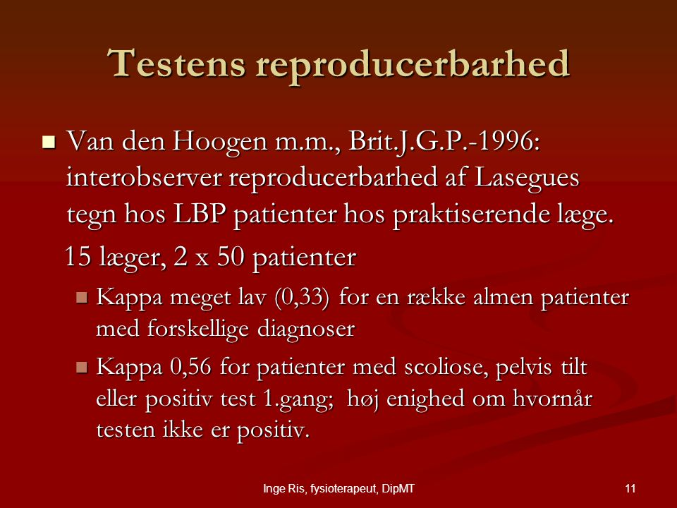 Testens reproducerbarhed