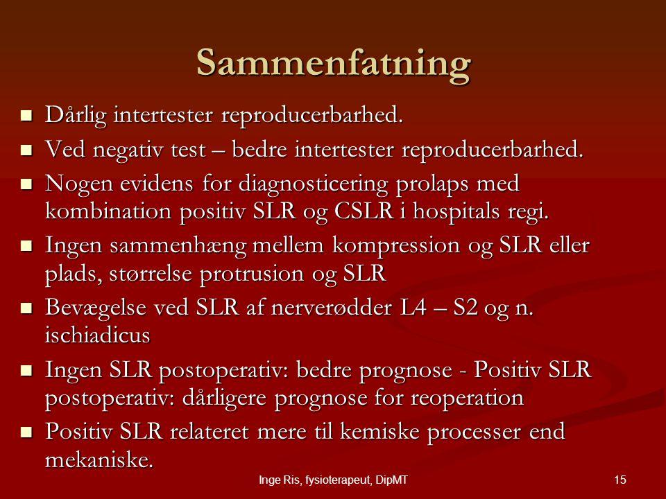 Inge Ris, fysioterapeut, DipMT