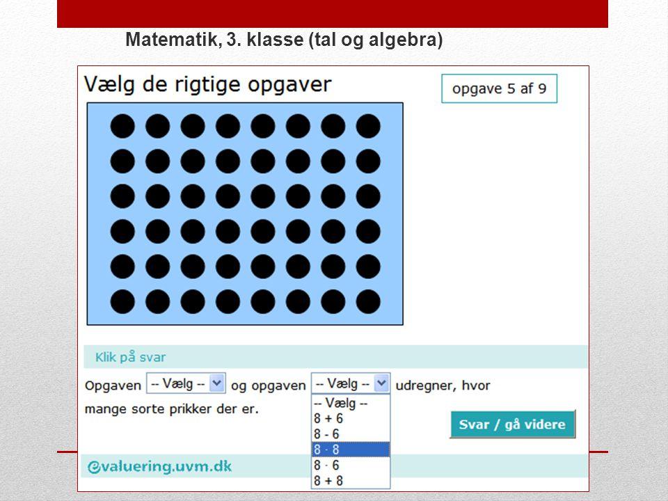 Matematik, 3. klasse (tal og algebra)