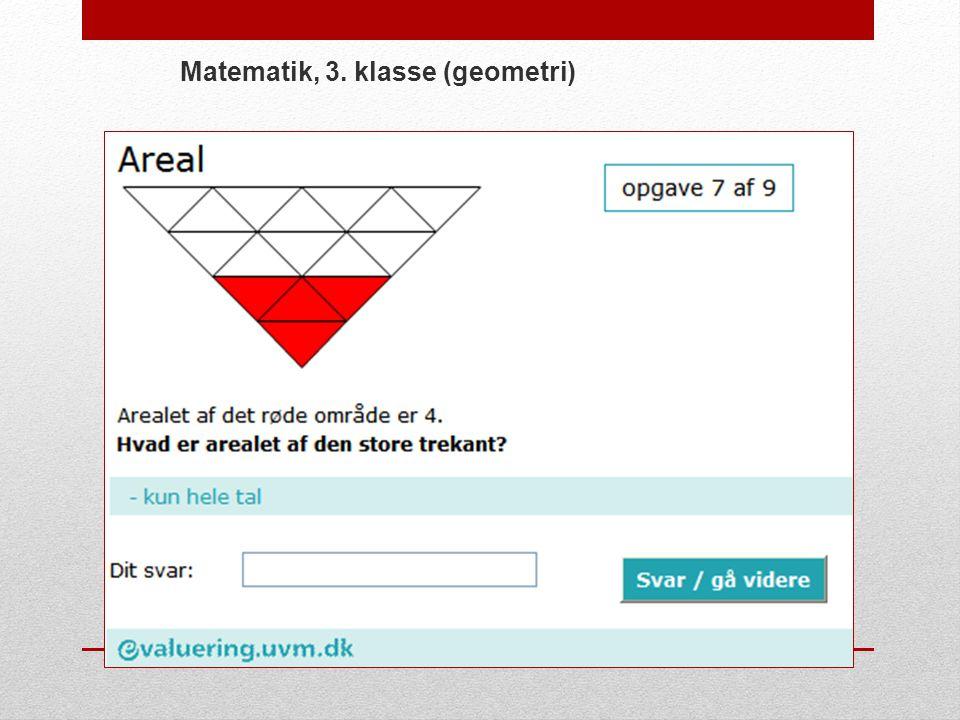 Matematik, 3. klasse (geometri)