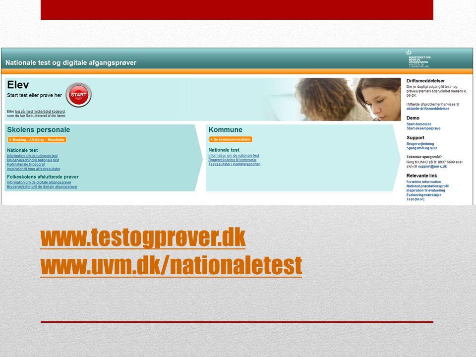 www.testogprøver.dk www.uvm.dk/nationaletest 14