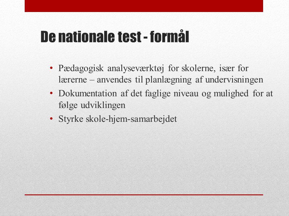De nationale test - formål