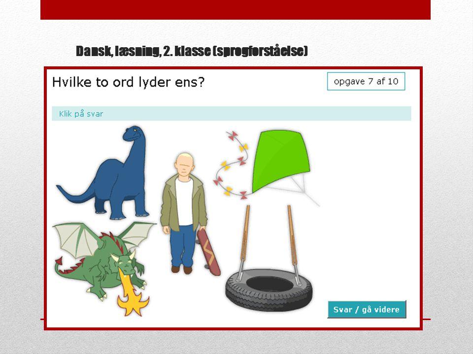 Dansk, læsning, 2. klasse (sprogforståelse)