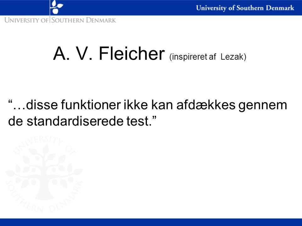 A. V. Fleicher (inspireret af Lezak)