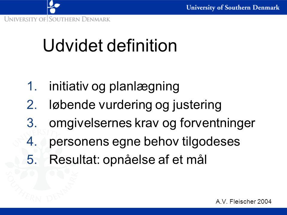 Udvidet definition initiativ og planlægning