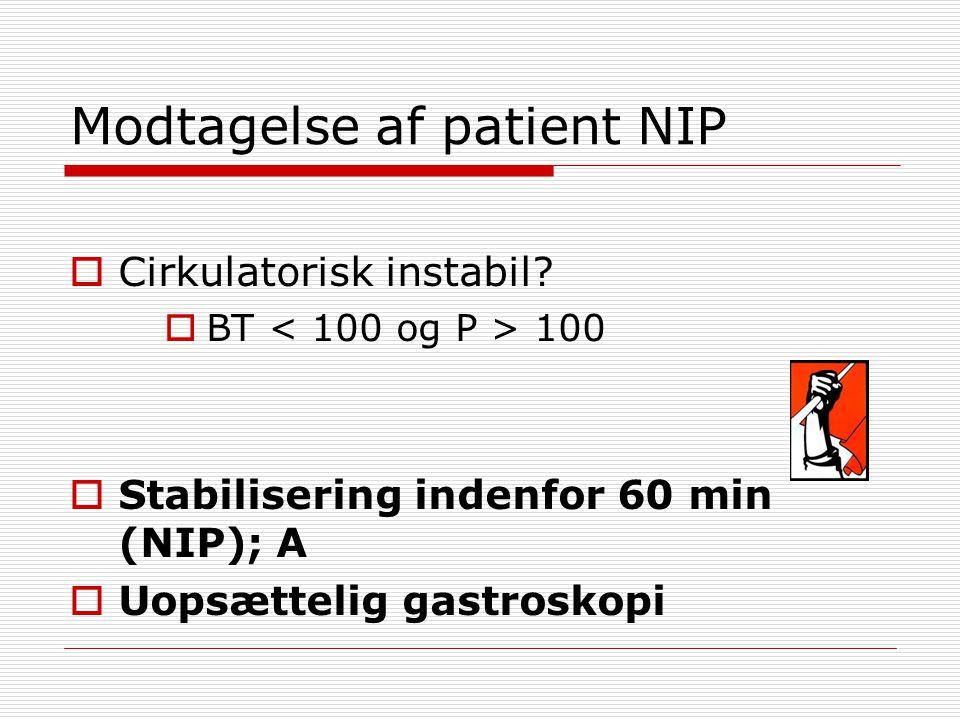Modtagelse af patient NIP