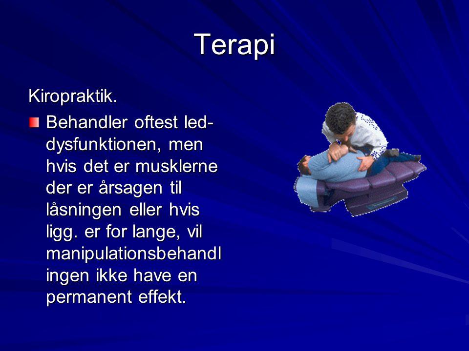 Terapi Kiropraktik.