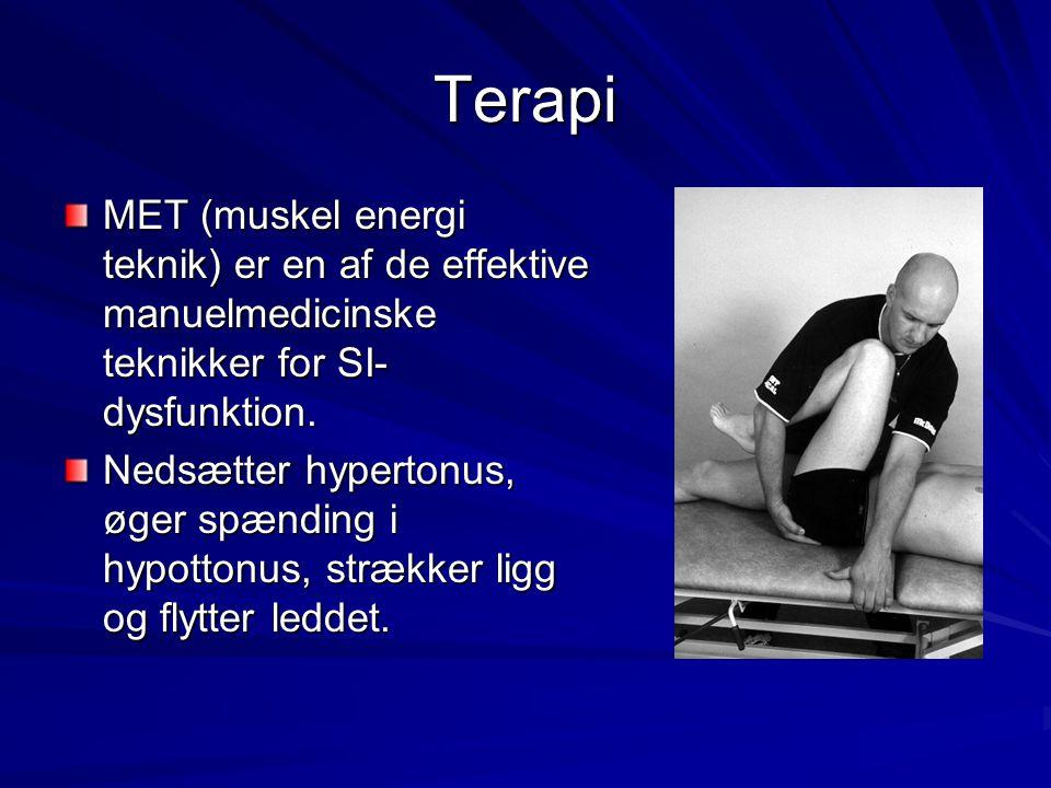 Terapi MET (muskel energi teknik) er en af de effektive manuelmedicinske teknikker for SI-dysfunktion.