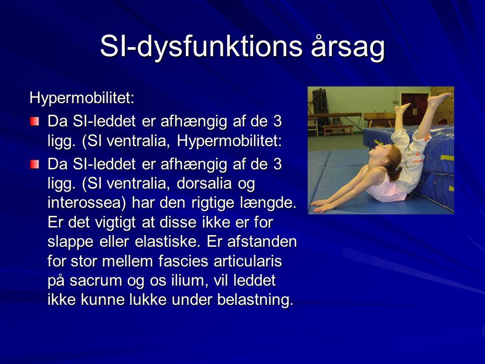 SI-dysfunktions årsag