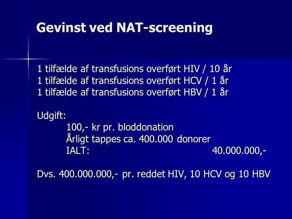 Gevinst ved NAT-screening