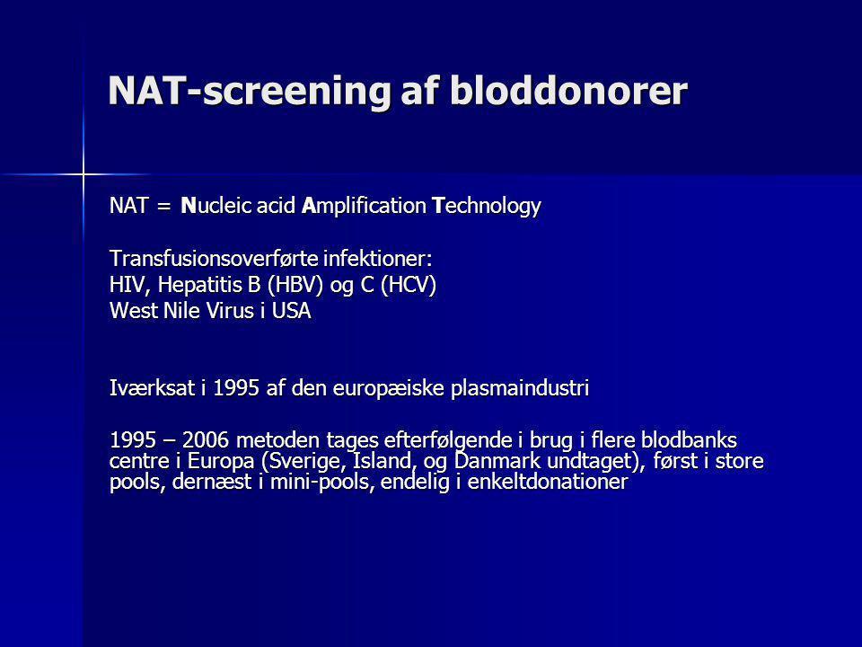NAT-screening af bloddonorer