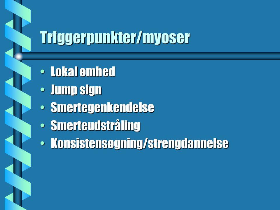 Triggerpunkter/myoser