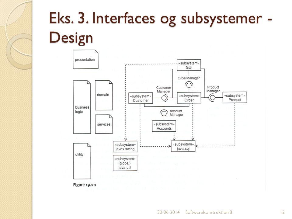 Eks. 3. Interfaces og subsystemer - Design