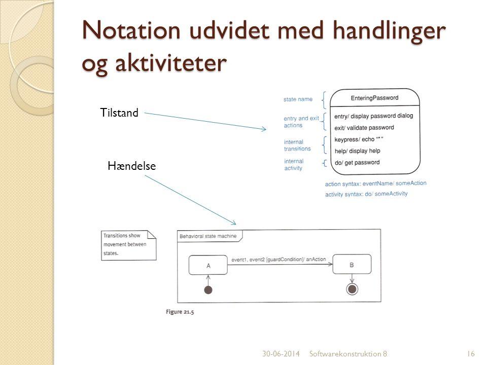 Notation udvidet med handlinger og aktiviteter
