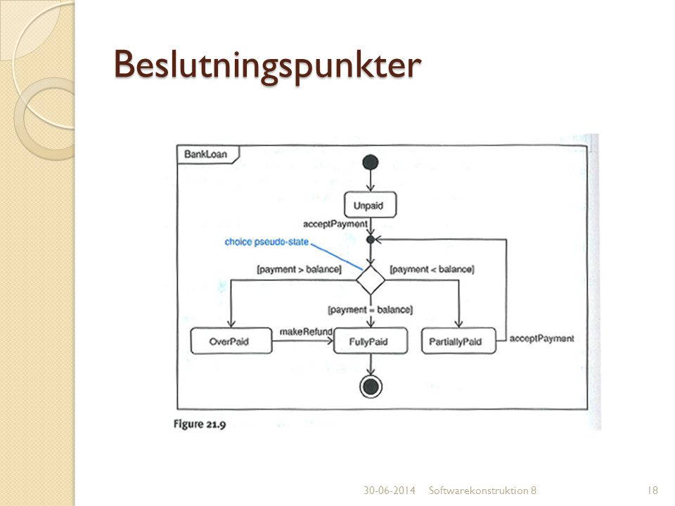 Beslutningspunkter 03-04-2017 Softwarekonstruktion 8