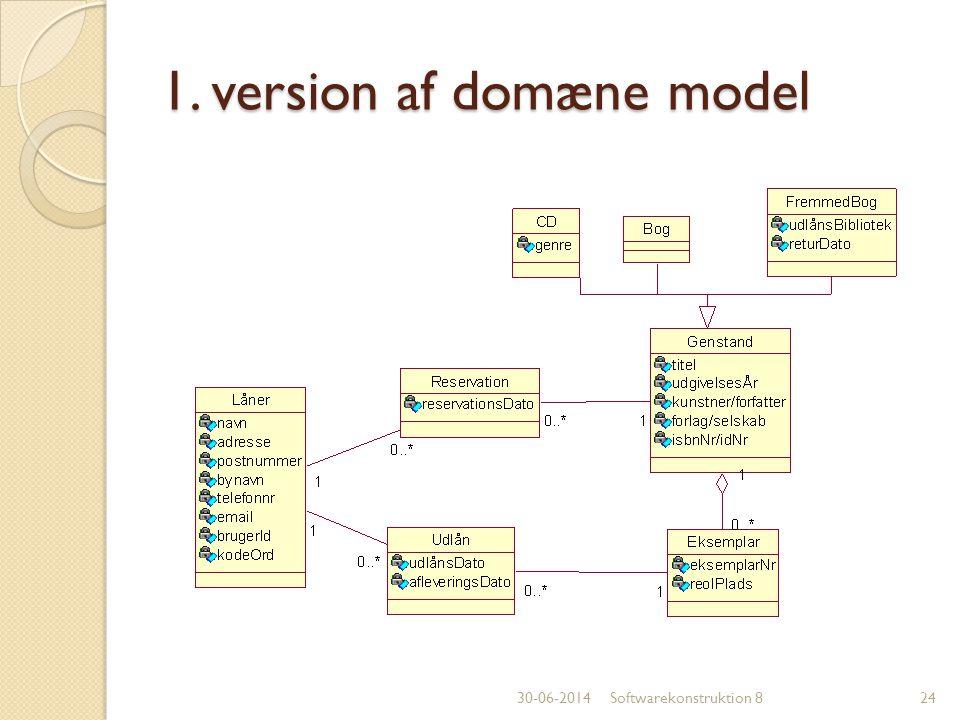 1. version af domæne model