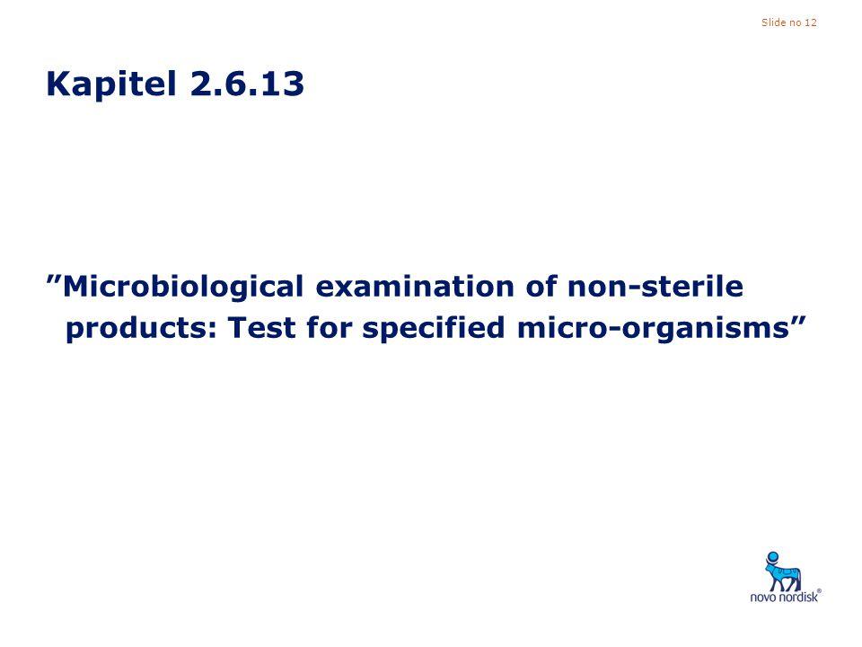 Kapitel 2.6.13 Microbiological examination of non-sterile