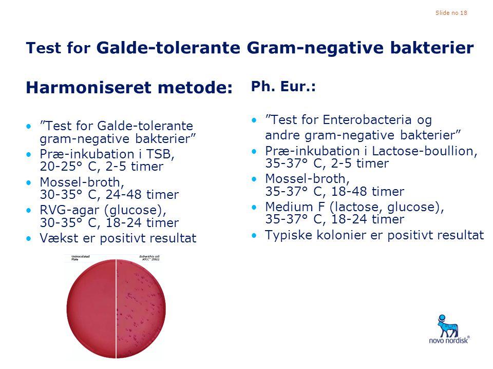 Test for Galde-tolerante Gram-negative bakterier