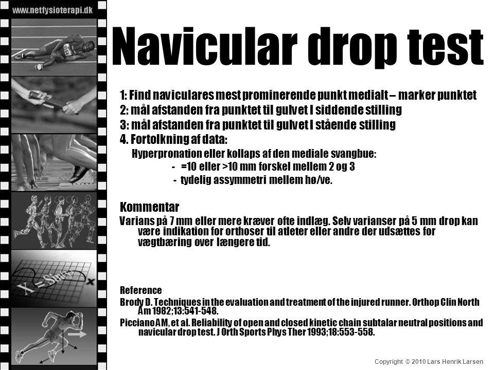 Navicular drop test 1: Find naviculares mest prominerende punkt medialt – marker punktet.