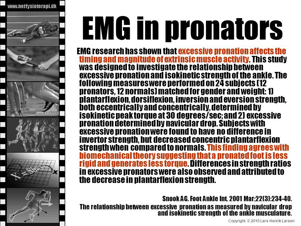 EMG in pronators