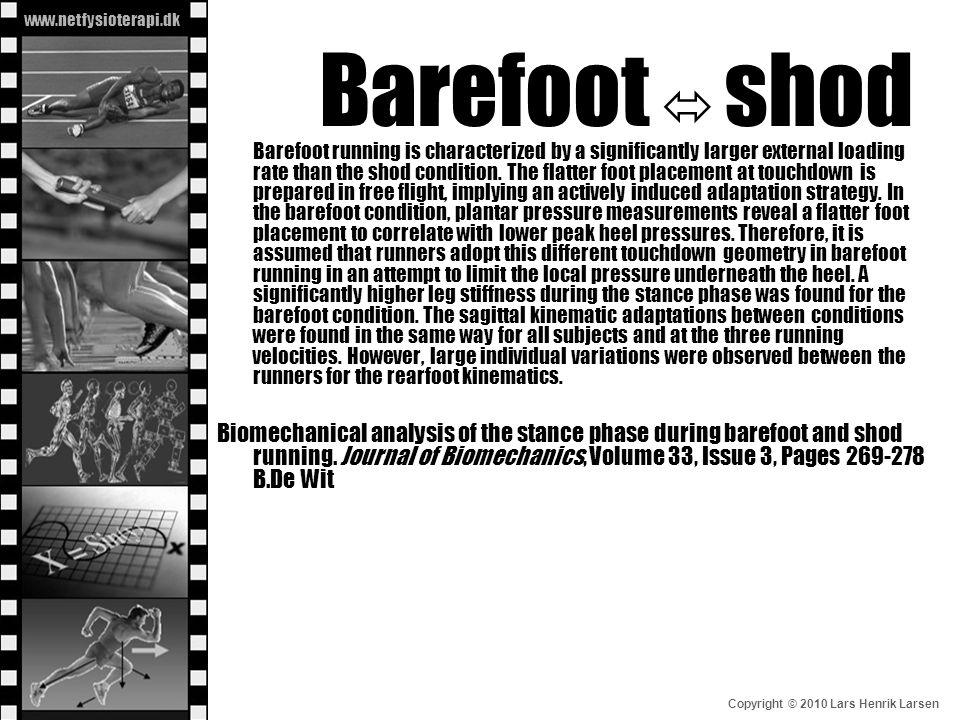 Barefoot  shod