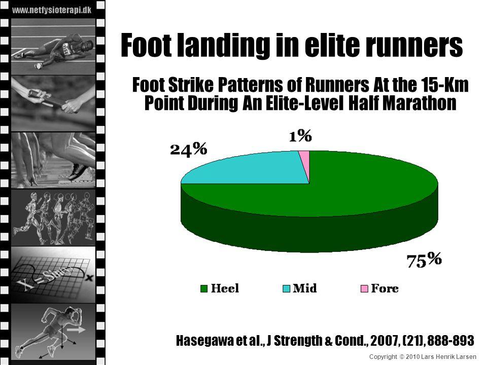 Foot landing in elite runners