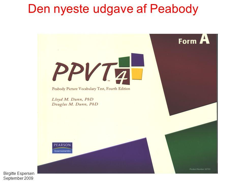 Den nyeste udgave af Peabody
