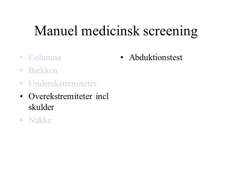 Manuel medicinsk screening