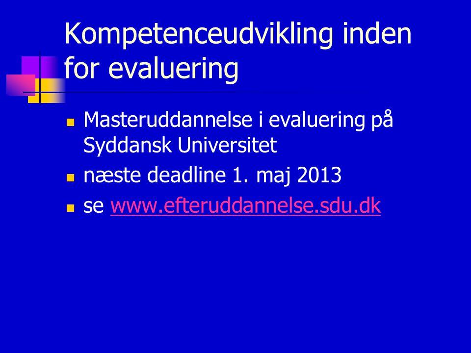 Kompetenceudvikling inden for evaluering