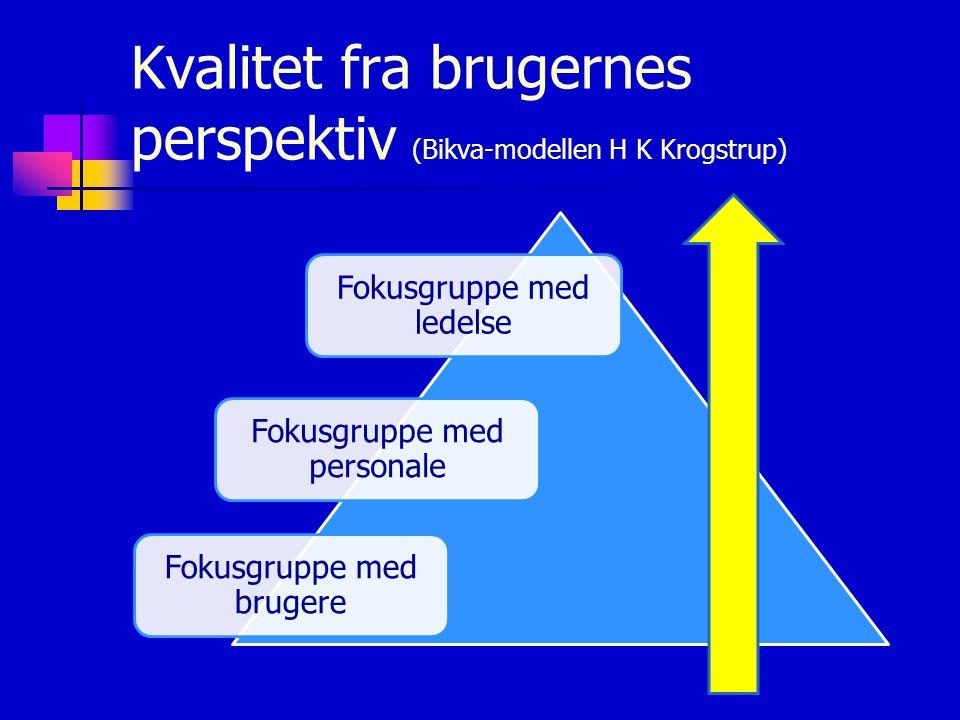Kvalitet fra brugernes perspektiv (Bikva-modellen H K Krogstrup)