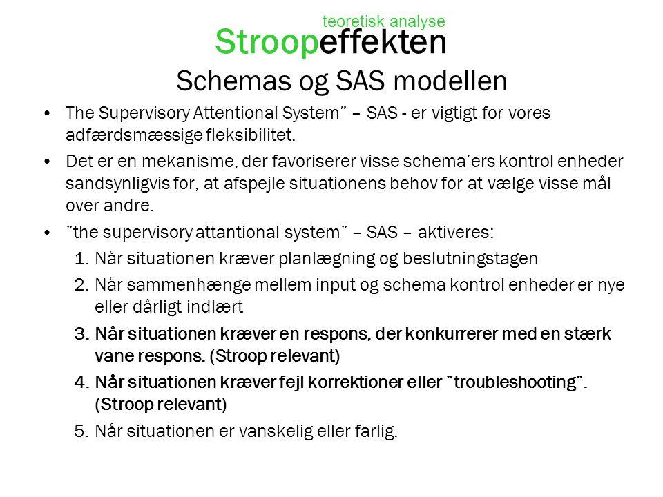 Schemas og SAS modellen