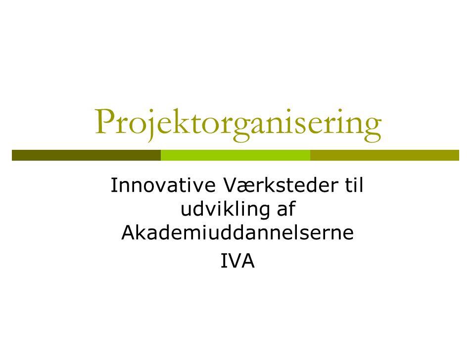 Innovative Værksteder til udvikling af Akademiuddannelserne IVA